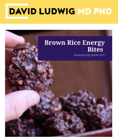 Brown Rice Energy Bites Newsletter