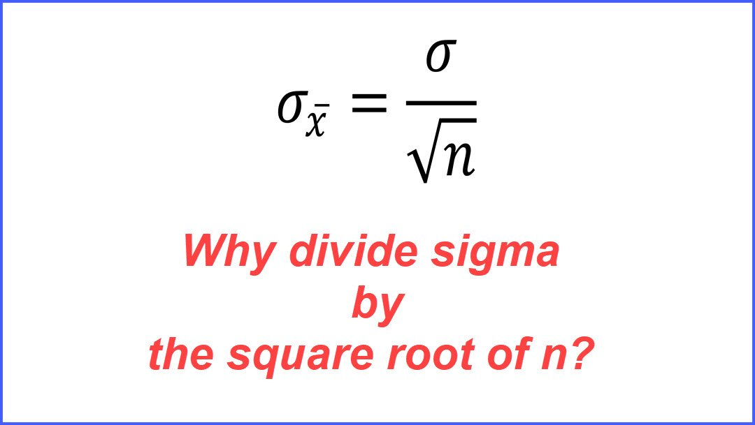 Excel Simulation: Why is the Standard Error Equal to Sigma Divided by the Square Root of n?