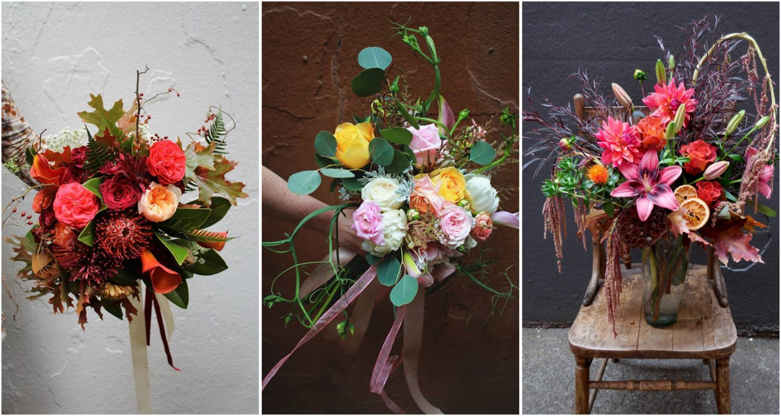 Floral arrangements and wedding bouquets from Passionflower Design in Eugene, Oregon