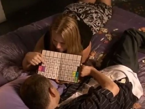 Rachel uses a board with her late client, Mark.