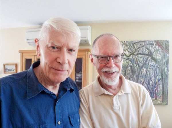 Partners Edwin Fisher, 86, and Patrick Mizelle, 64, moved to Rose Villa in Portland, Oregon, from from Georgia about three years ago. Fisher and Mizelle worried residents of senior living communities in Georgia wouldn't accept their gay lifestyle.