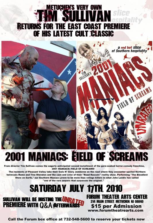 2001nj - First Look, Dread Central, & Metuchen, New Jersey's Forum Theatre to Host East Coast Premiere of 2001 Maniacs: Field of Screams