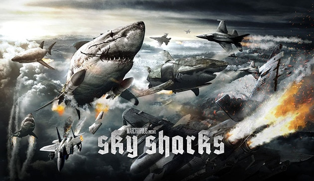 Sky Sharks Movie Banner - Sky Sharks Releases a Promo Trailer, But the Movie Needs Your Help