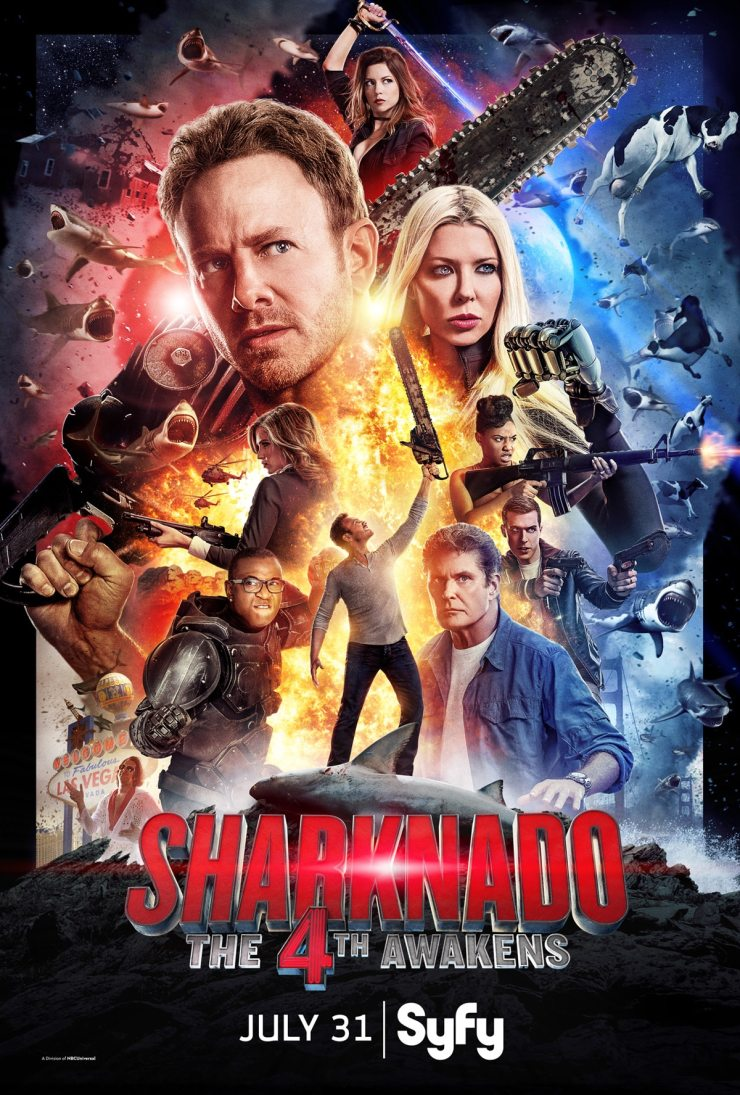 sharknado the4thawakens poster - Exclusive: Caroline Williams Talks Sharknado: The 4th Awakens, TCM2's 30th Anniversary, and Blood Feast Remake