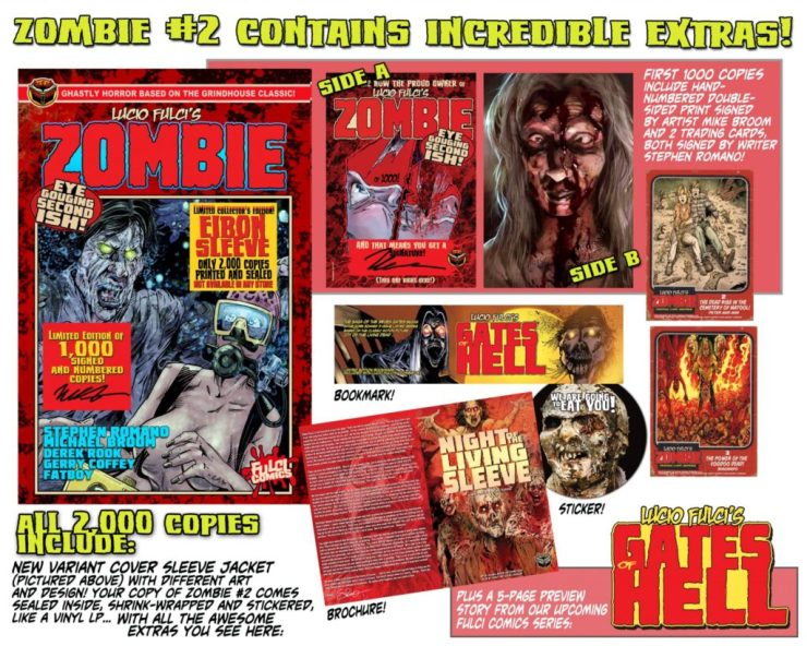 ZOMBIE 2 EXTRAS min 1024x819 - Lucio Fulci's ZOMBIE #1 Special Edition Comic Ships this Week and MORE!