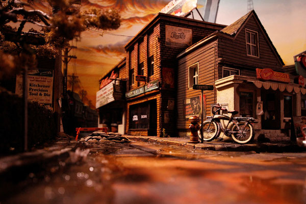 stephenkingdiorama0 - Derry, the Town From Stephen King's It, Has Been Recreated in a Stunning Model
