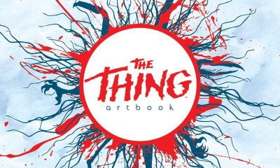 thethingartbookcover - Printed in Blood Celebrating The Thing's 35th Anniversary With a Gorgeous Artbook of Original Pieces