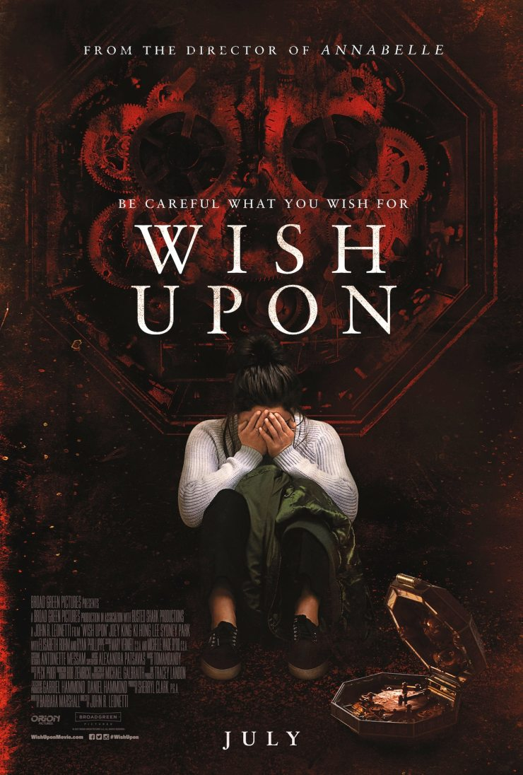WishUpon FinalPoster - Wish Upon Set Visit Report - Hear from Stars Joey King, Shannon Purser, and Sydney Park and Director John R. Leonetti
