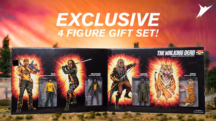 TWD Front Box Promo Open - #SDCC17: The Walking Dead Explodes with Shiva Force Toy Set