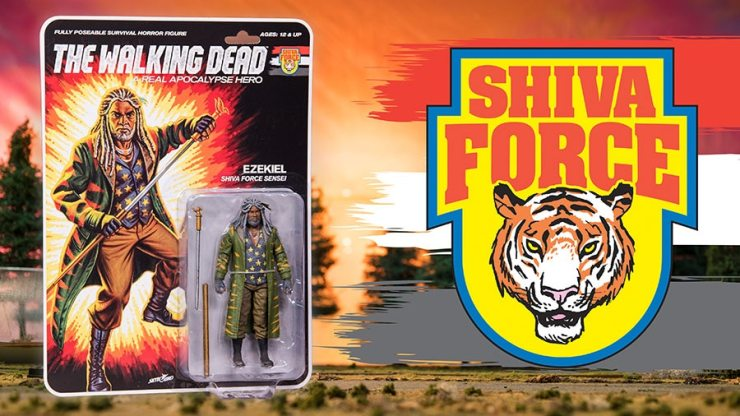 TWD Shiva Force Ezekiel Character Promos - #SDCC17: The Walking Dead Explodes with Shiva Force Toy Set