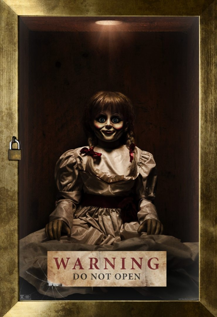 annabelle creation poster - New Annabelle: Creation Poster and TV Spots Locked Away