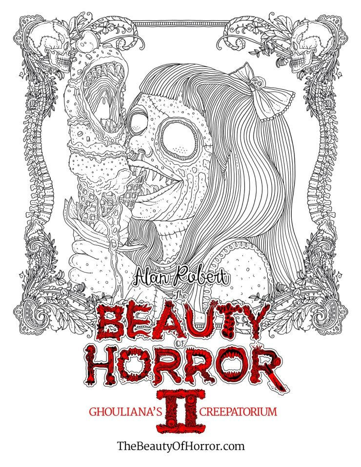 BeautyOfHorror2 FREE - Alan Robert Releases a Page from The Beauty of Horror II: Ghouliana's Creepatorium