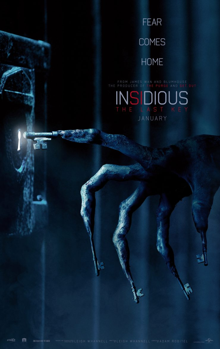 insidiouslastkeyposter - Insidious: The Last Key Trailer Imprisons You in the Further
