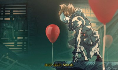 itpennywiseanime 1 - IT's Pennywise Gets an Anime Adaptation...Sorta