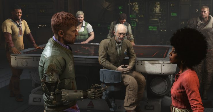 ROW Wolfenstein II Team Meeting 1503395626 - Wolfenstein II: The New Colossus Video Game Review - Doesn't Evolve Mechanically Enough to be Really Memorable