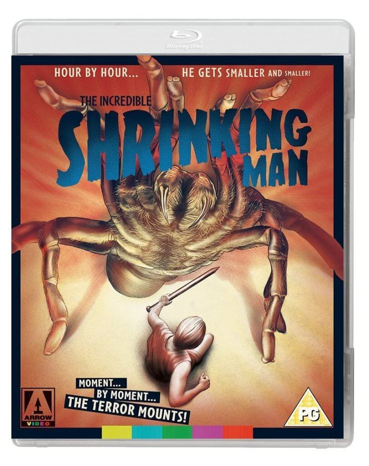The Incredible Shrinking Man blu ray 1 - The Incredible Shrinking Man Gets Tarantulatastic Blu-ray Cover Art
