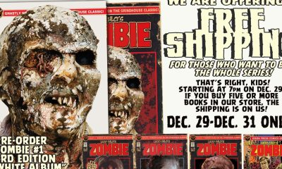 FREE SHIPPING AD 2 mins - Lucio Fulci's Zombie #1 Comic Back in Print TONIGHT at 7pm! Now in its Third Run!