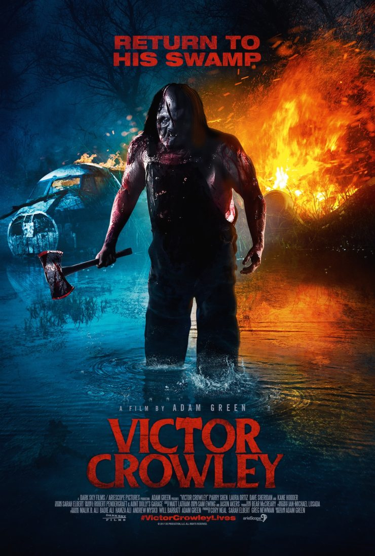 Victor Crowley INT 1Sheet - New Victor Crowley Trailer Owns the Swamp and Then Some!