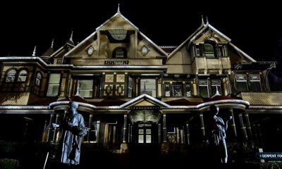 Winchester Mystery House at Night - Winchester: Before the Movie, See Dread Central's Paranormal Investigation of the Actual Winchester Mansion