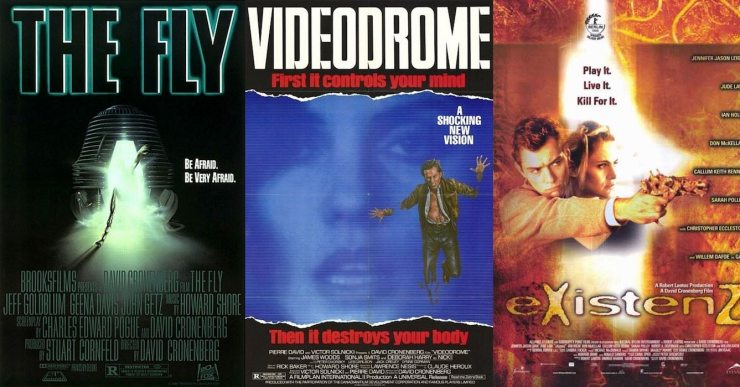 flyvideodromeexistenzposters - Come Into Me's Lonnie Nadler Shares His Favorite Body Horror Films