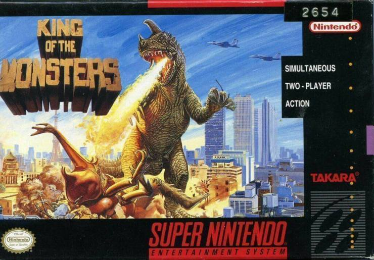 king of the monsters snes cover 1 - SNES Classic King of the Monsters Smashes onto the Switch eShop