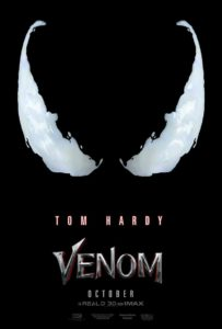 Venom movie poster 203x300 - Woody Harrelson Will Play Carnage in Venom Starring Tom Hardy!