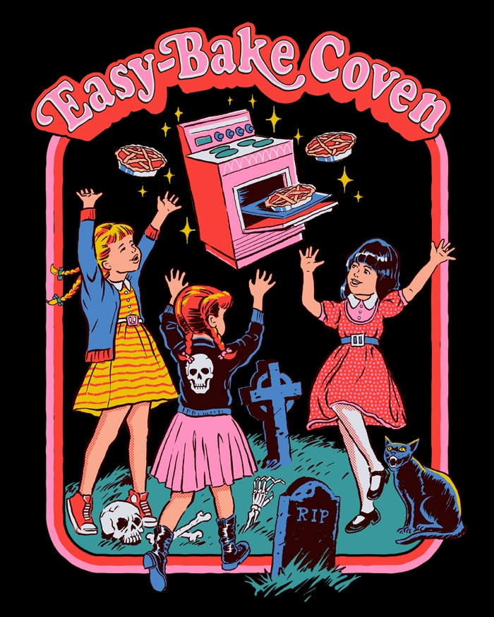 Easy Bake Coven - This Australian Artist is Putting a Morbidly Funny Spin on 70s Nostalgia