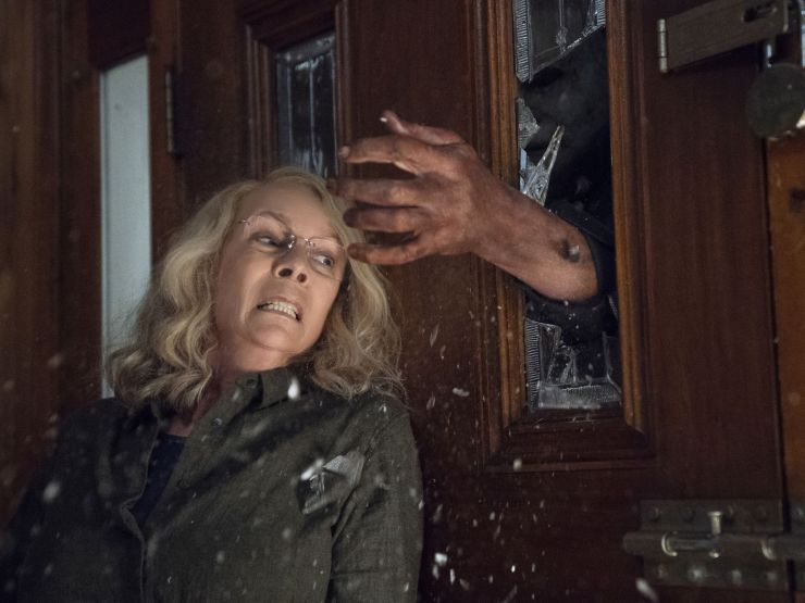 Blumhouse Halloween 1 - HALLOWEEN Set Visit: Jamie Lee Curtis, Judy Greer, and Andi Matichak on Three Generations of Strodes