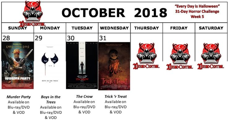 October 2018 31 Day Horror Challenge Week 5 - Every Day is Halloween: Dread Central's 31-Day Horror Challenge for October 2018