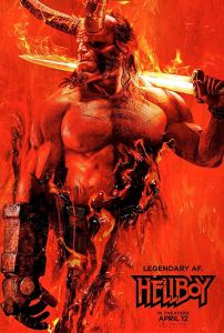 hellboy 2019 poster 202x300 - Writer/Director & Star of SLAY BELLES Talk Christmas Horror, Indie vs Big Budget Filmmaking & HELLBOY 2019