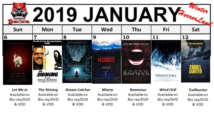 January 2019 Week 2 - Winter HorrorLand: Dread Central's 31-Day Movie Challenge for January 2019