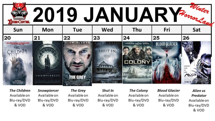 January 2019 Week 4 - Winter HorrorLand: Dread Central's 31-Day Movie Challenge for January 2019