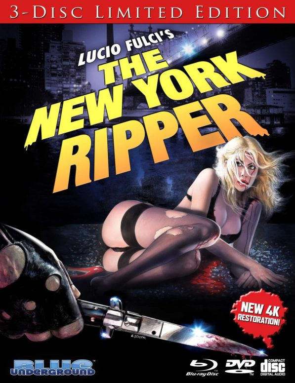 New York Ripper Bluray 1024x1330 - Blue Underground Releasing Lucio Fulci's THE NEW YORK RIPPER on Bloody 3-Disc Collector's Edition