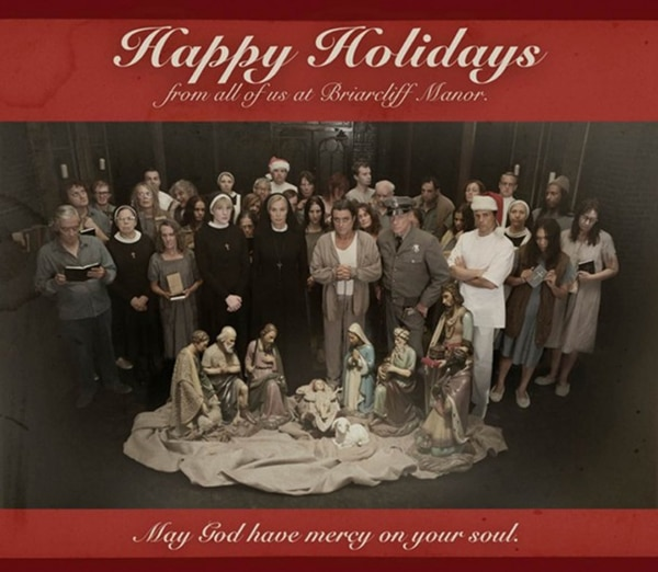 ahshh - Nothing Says Happy Holidays Quite Like a Card from American Horror Story: Asylum