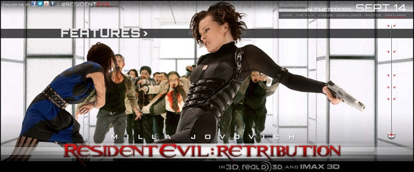 rerweb - Are Those Actual Zombies on the Resident Evil: Retribution Website?