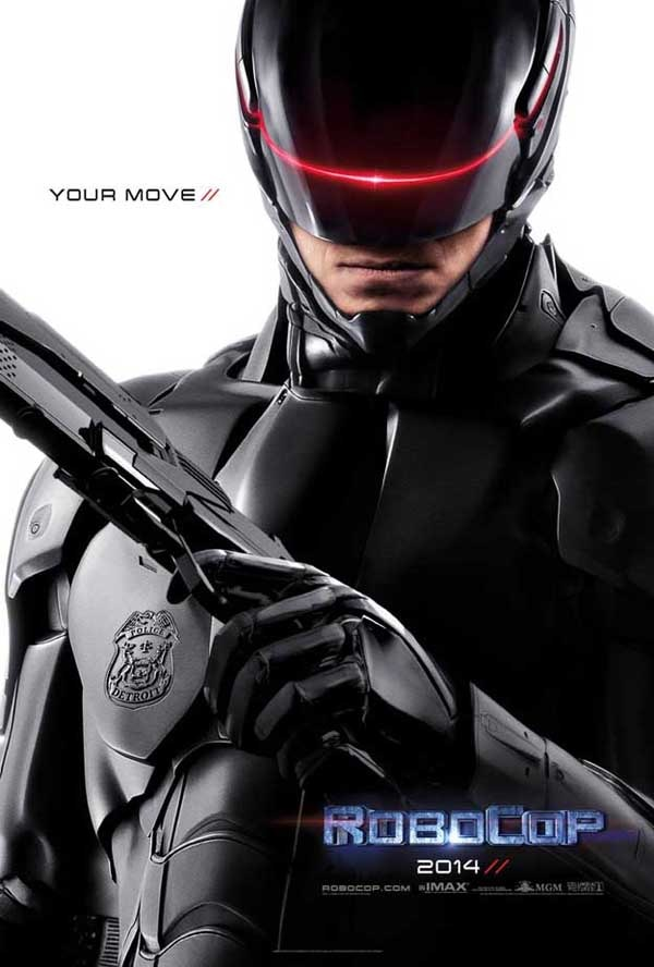 robocop poster - First Official RoboCop One-Sheet Arrives With a Mild Threat