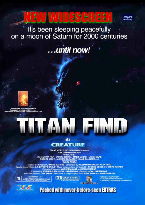 titan find dvd - Titan Find a.k.a. Creature FINALLY Getting a Proper DVD Release