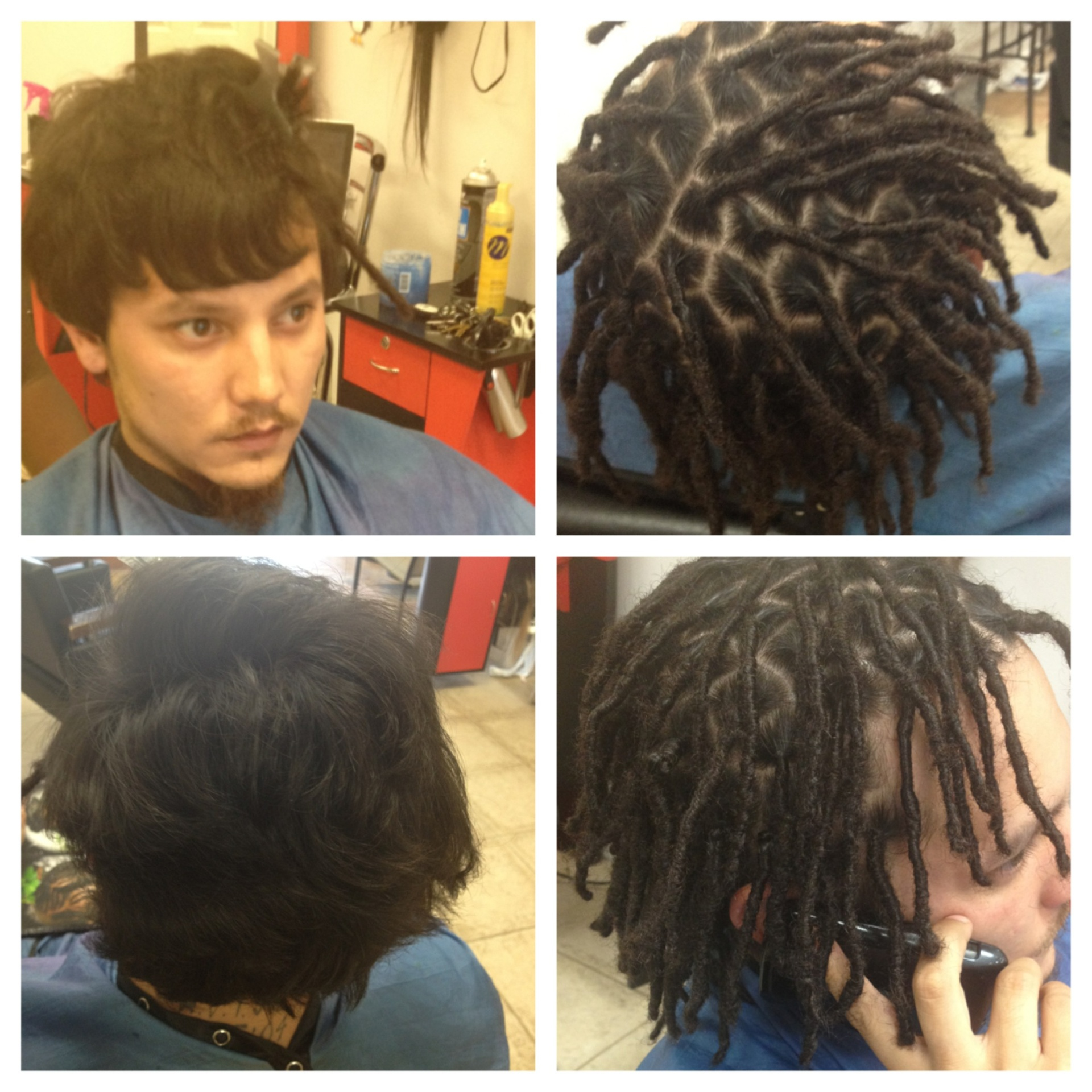 Dread Extensions on Hispanic hair
