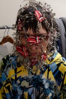 Sara Cumming backstage. Plastic Tokyo SS16, MBFWT, image by ©Akin Abayomi