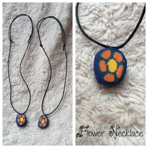 Flower Necklace with adjustable cord