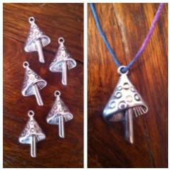 silver mushroom pendant