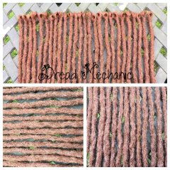 copper single ended crochet synthetics
