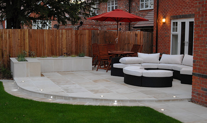 Early, Modern Patio - Dream Gardens on Square Patio Designs  id=37083