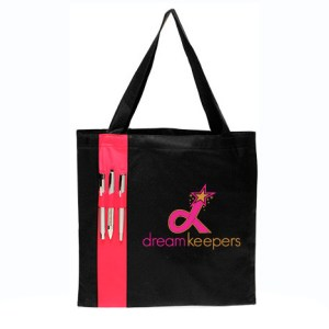 Dream Keepers Black Tote with Pen Holder