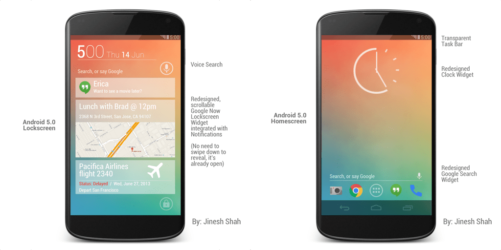 Android 5.0 Homescreen