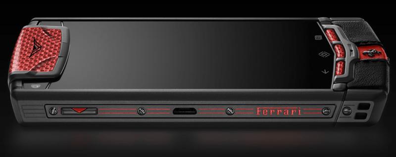 新しいVERTUチタンフェラーリ限定版スマートフォン