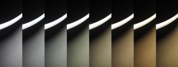 明るさ最大での色の変化