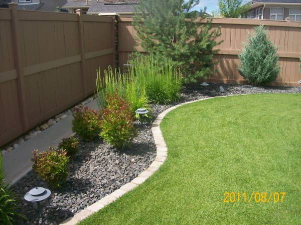Landscaping Borders Edging on Backyard Border Ideas  id=78003