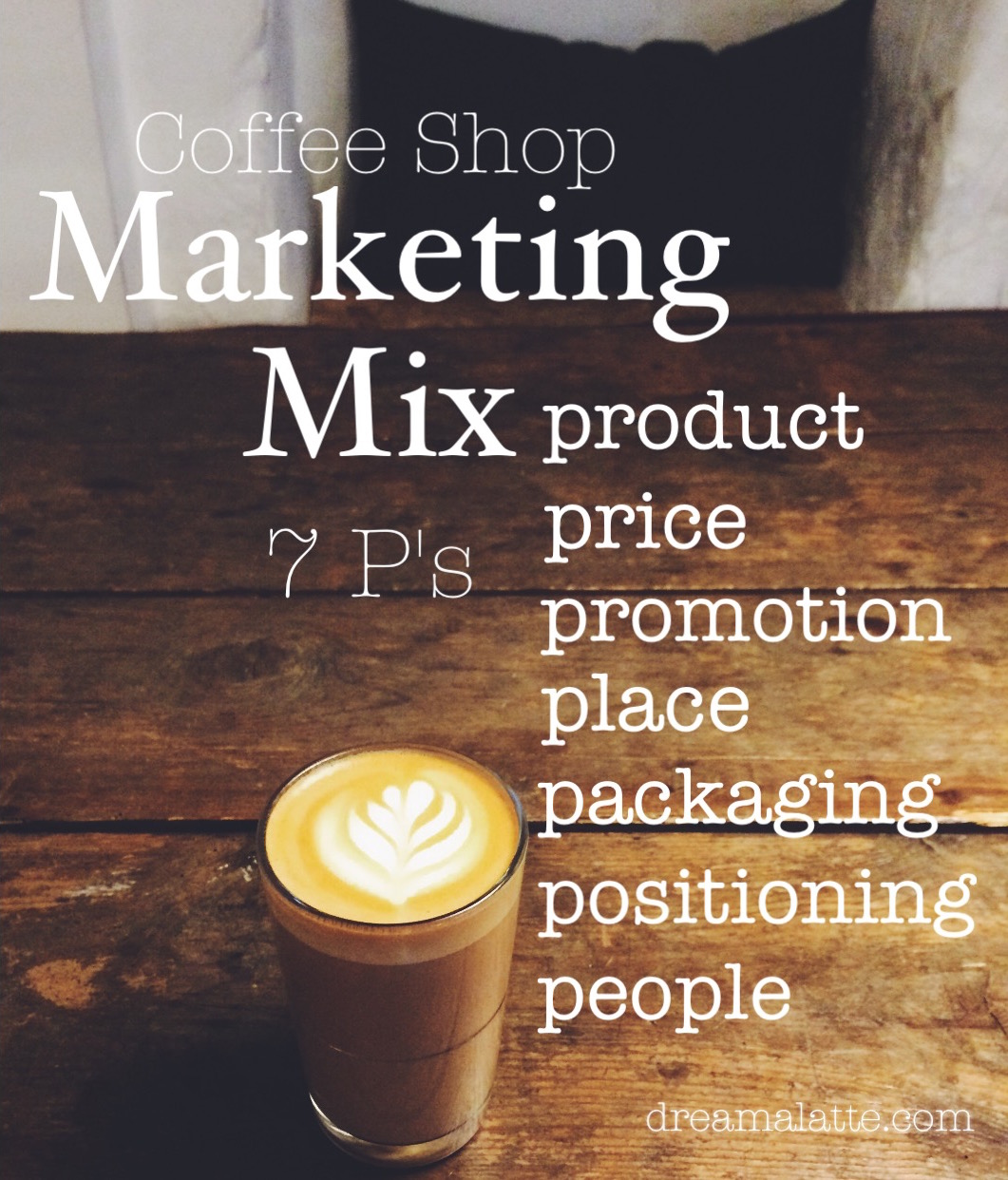 Coffee Shop Business Plan: Marketing Mix - Dream|a|Latte