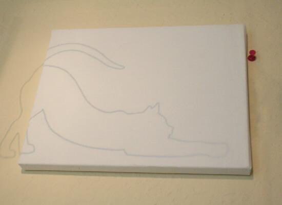 Catty Art Feline Silhouette Paintings Tutorial Dream A Little Bigger
